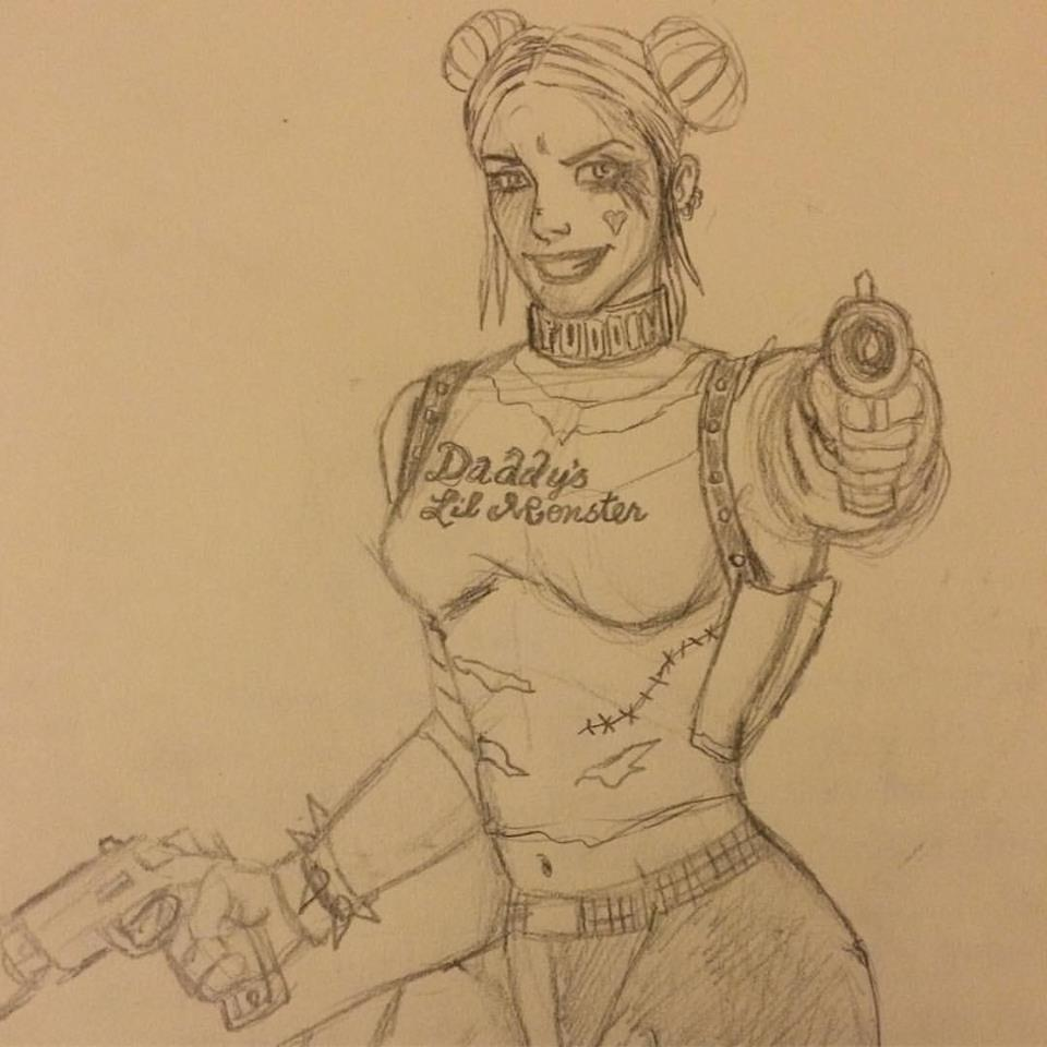 Harley Quinn sketch Daddy's Girl.jpg