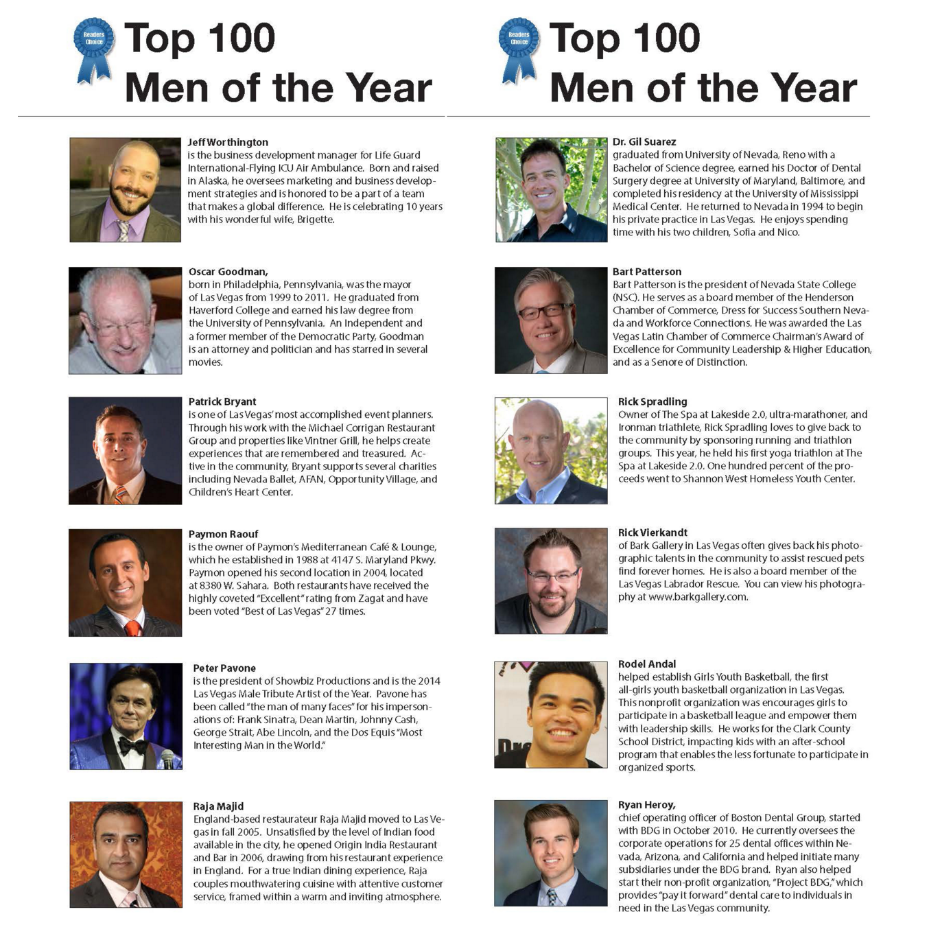 MyVegas Top 100 Men of the Year