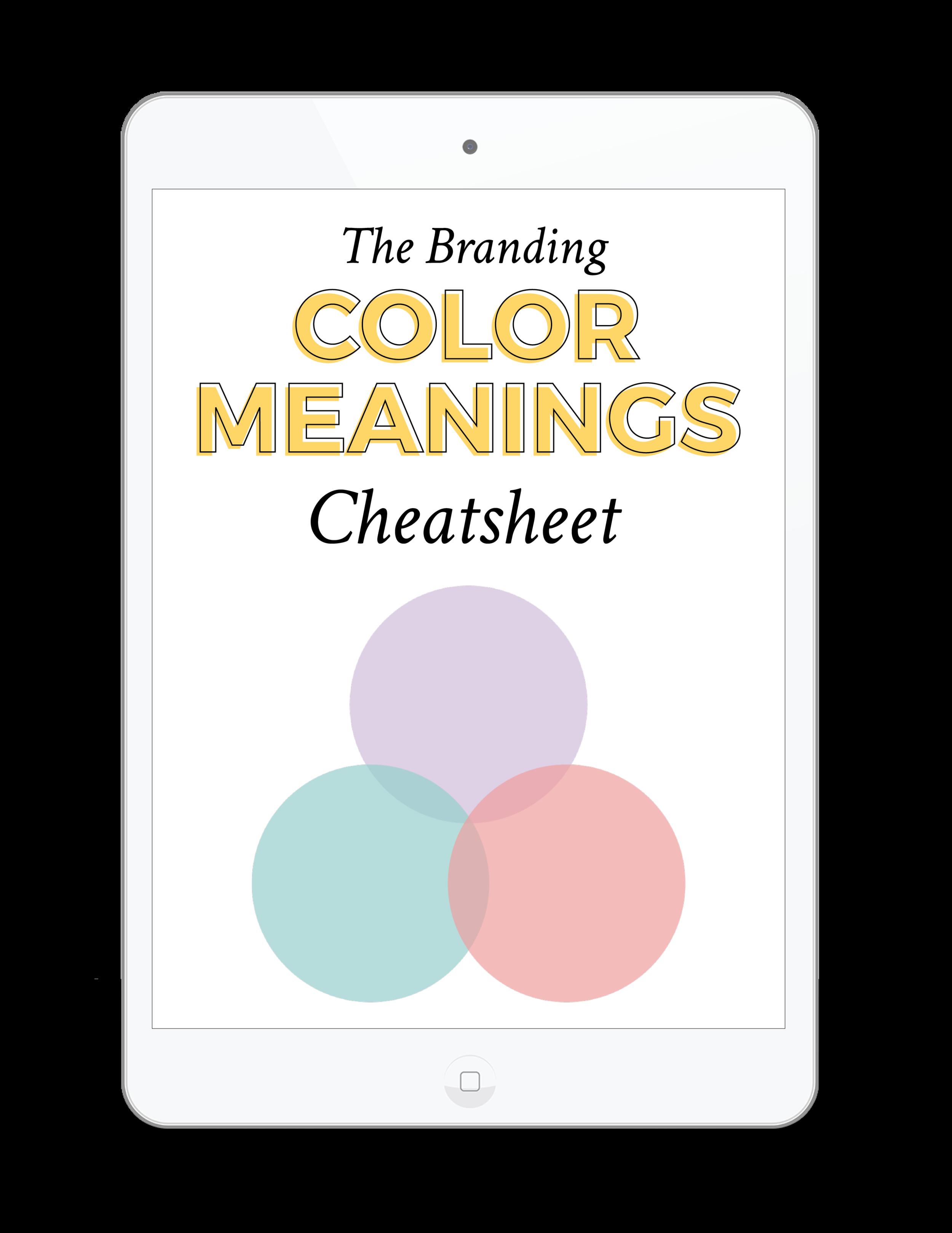 The Branding for Business Color Meanings Cheatsheet | viaYuri.com