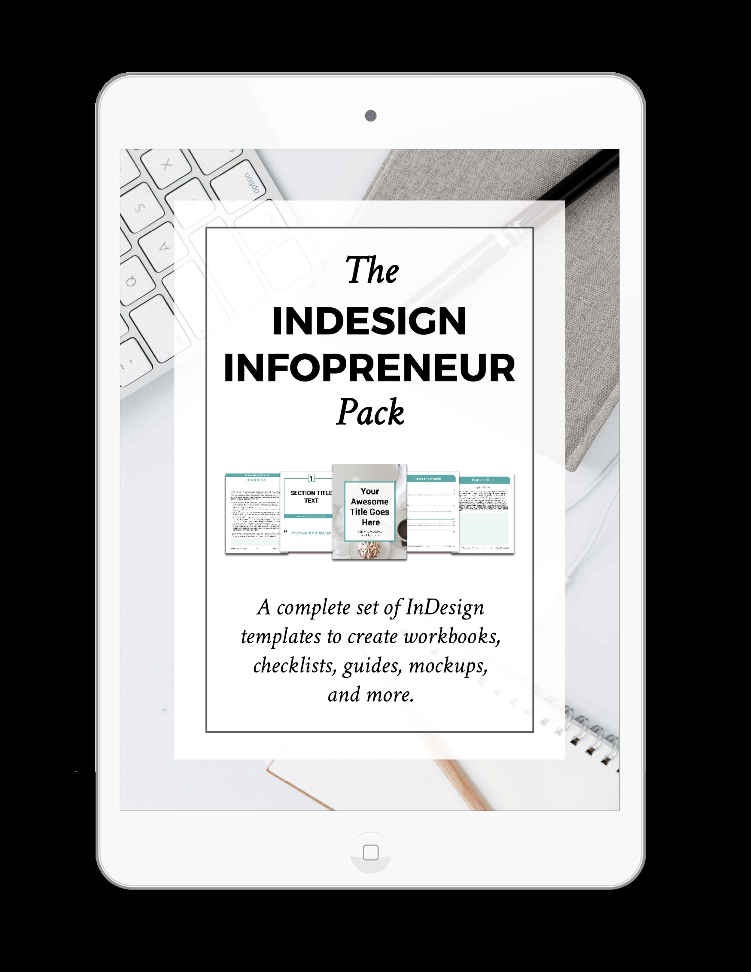 InDesign Digital Product Templates   The InDesign InfoPreneur Product Pack   viaYuri.com