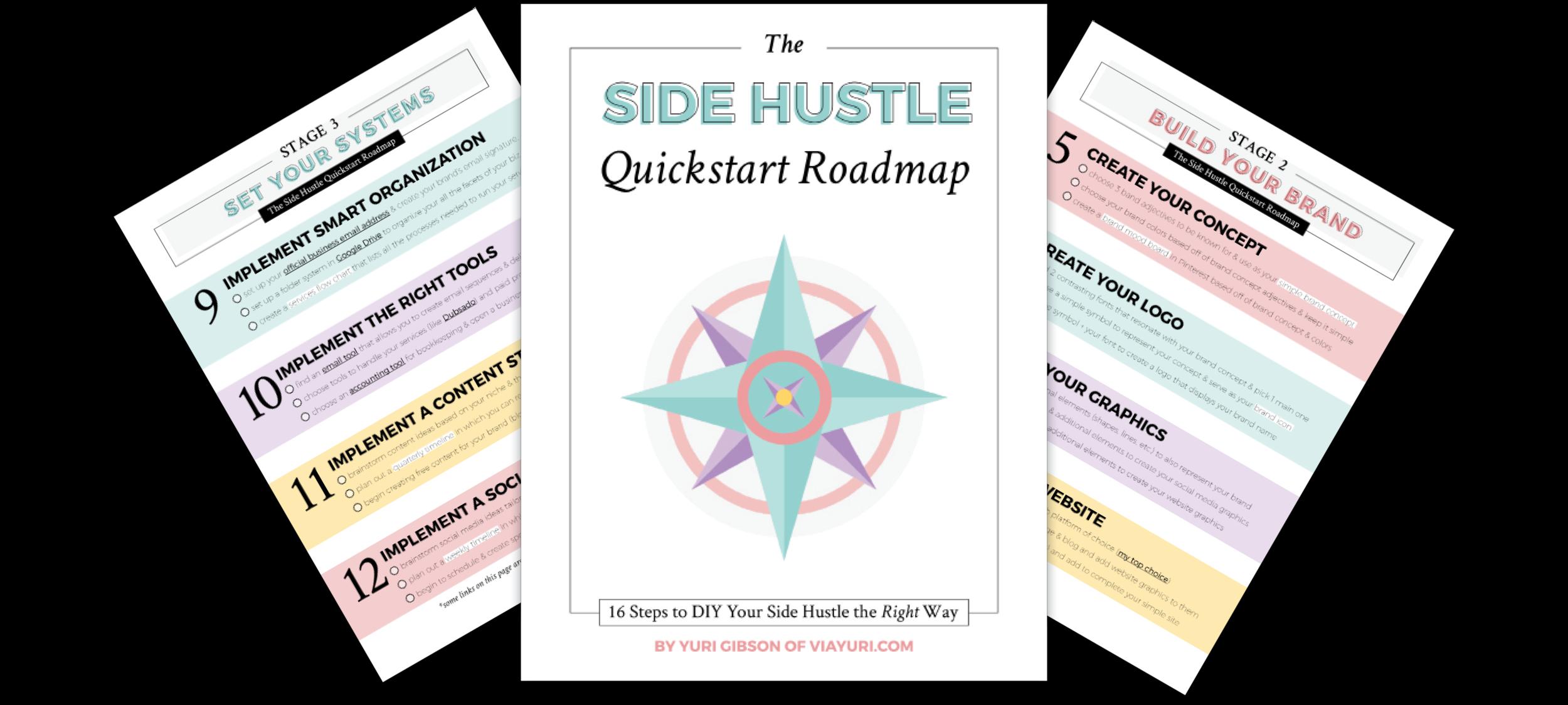 7 Things I Wish I Knew When I Started My Side Hustle, The Side Hustle Quickstart Roadmap   Yuri Gibson of viaYuri.com