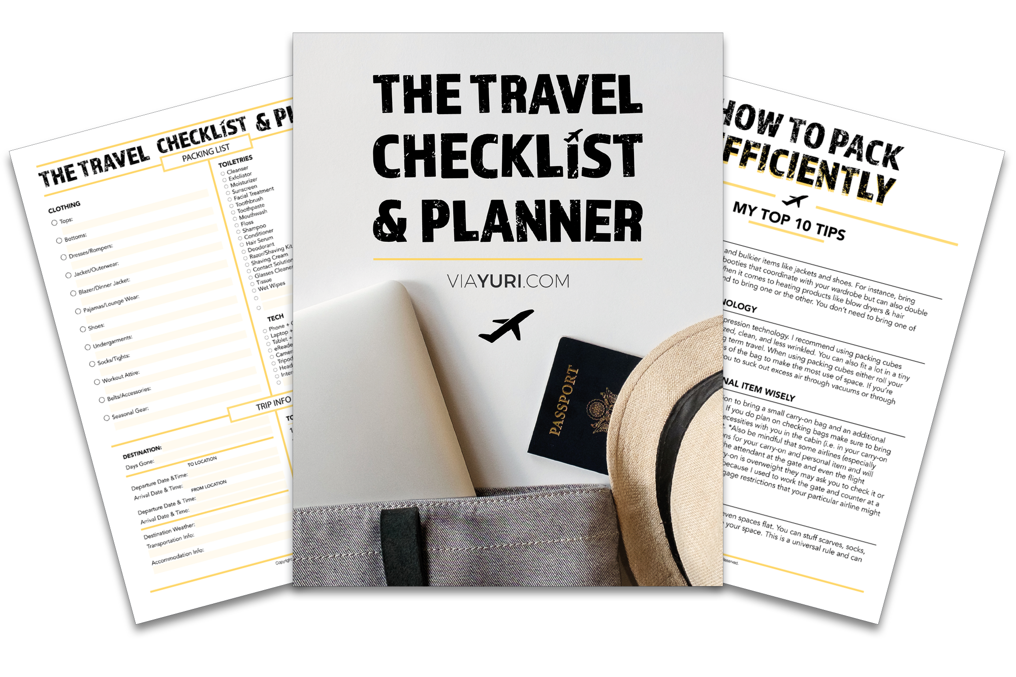 Things I've Created in InDesign: Customizable Travel Checklist & Planner