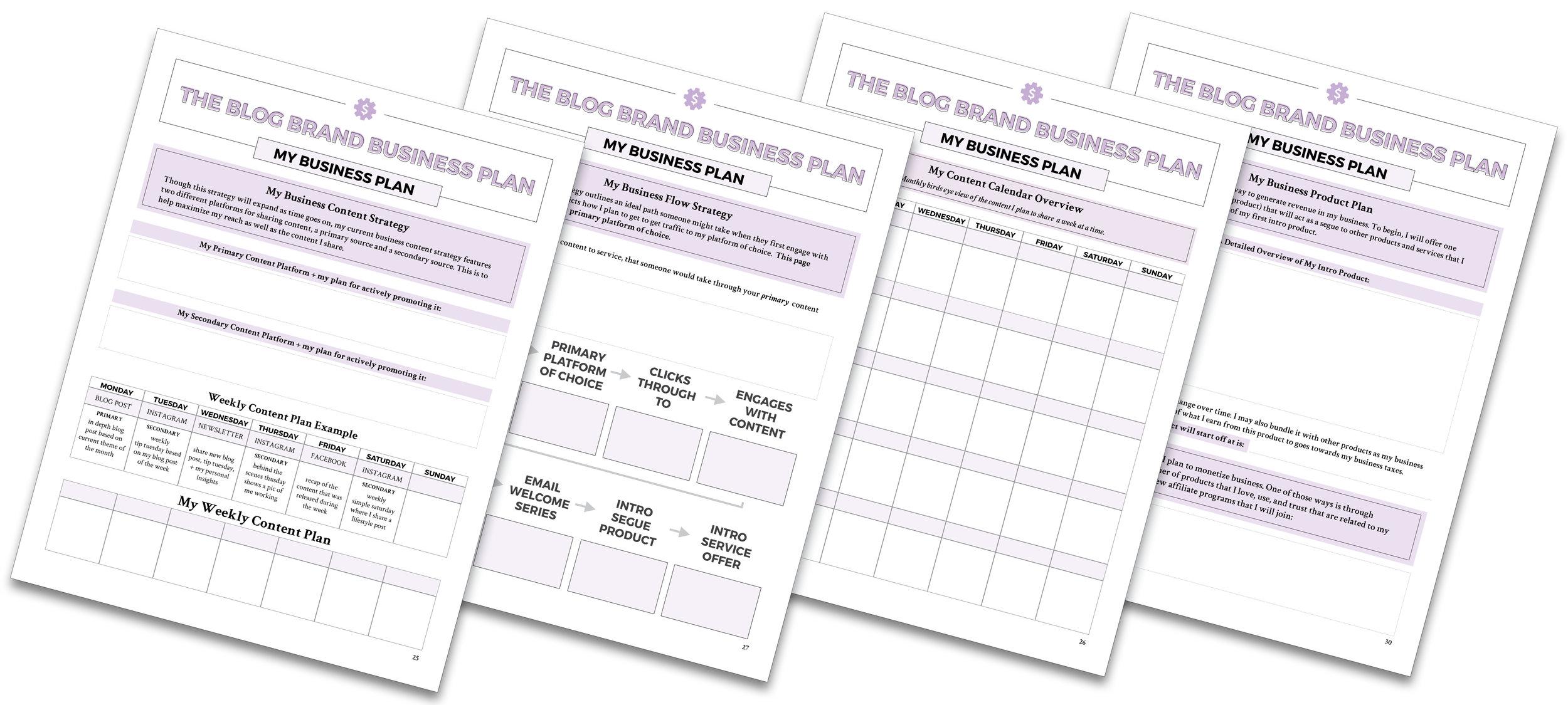The Blog Brand Business Plan | by Yuri Gibson of viaYuri.com