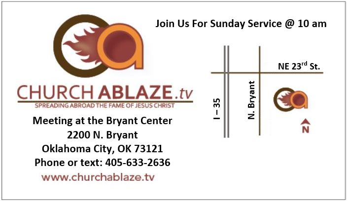 Where we meet      The Bryant Center: -  2200 N. Bryant, Oklahoma City, OKWe also meet at multiple locations for outreach (even on some Sundays) so call before you come because the church may have