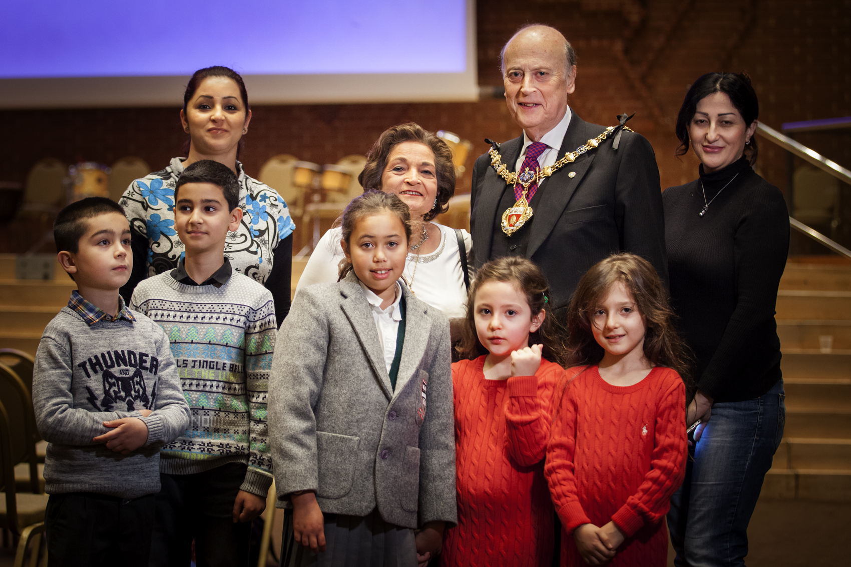 The Mayor & Mayoress of the Royal Borough of Kensington and Chelsea  with some of our families and young people.