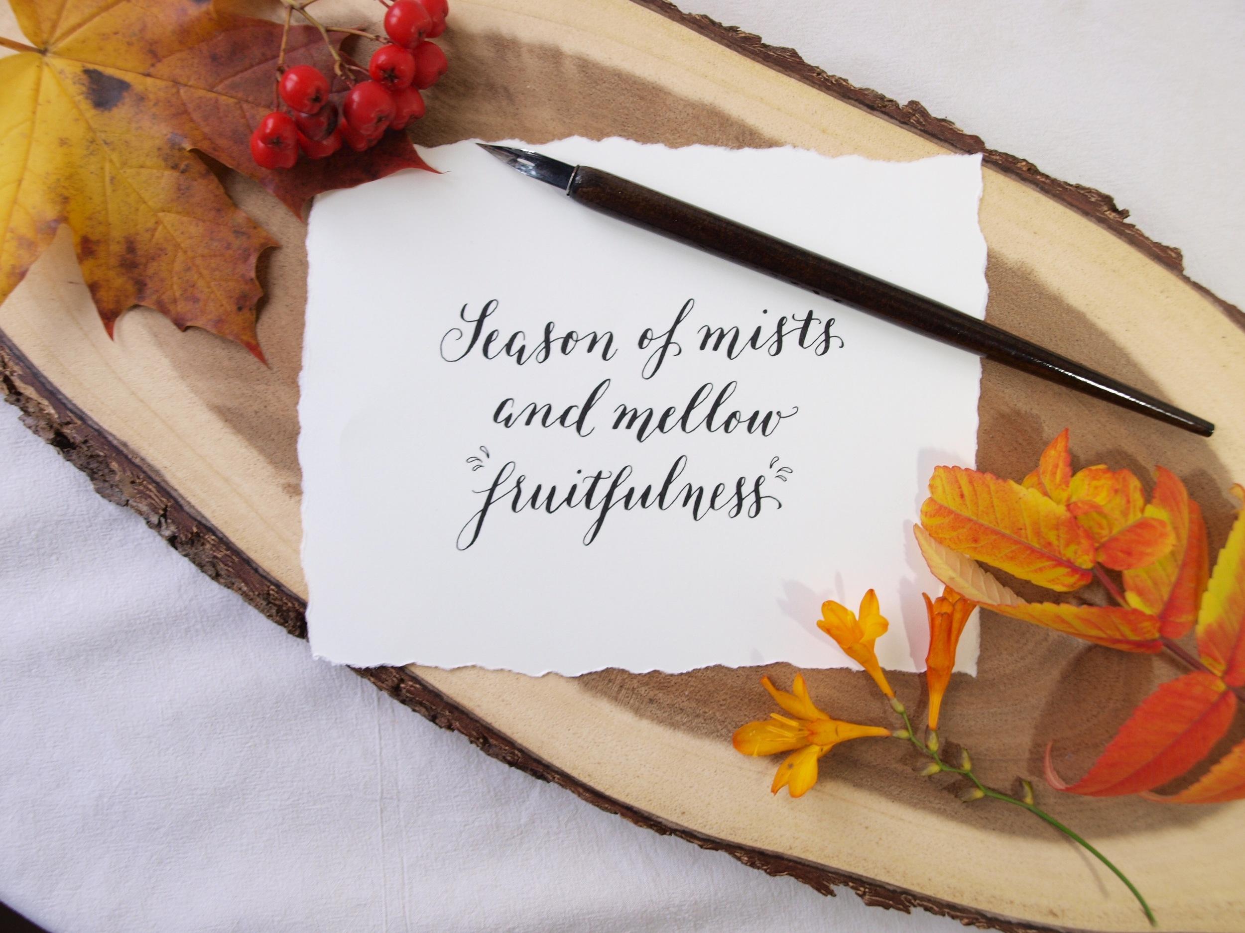 Modern calligraphy season of mists 3 .jpg