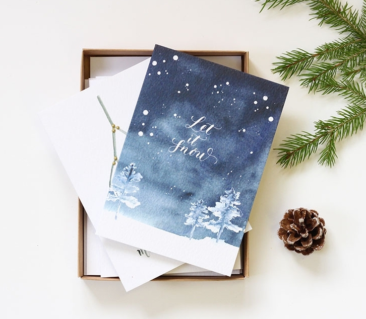 calligraphy christmas card