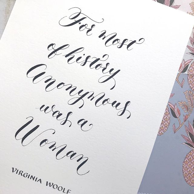 Virginia Woolf quote in modern calligraphy. . . . . . . . . . . #virginiawoolf #virginiawoolfquotes #virginiawoolfquote #feminist #feministquotes #feministquotes #literaturequotes #calligraphy #ukcalligrapher #moderncalligraphy #booklover #literaturelover #thatsdarling #pointedpencalligraphy #pointedpen