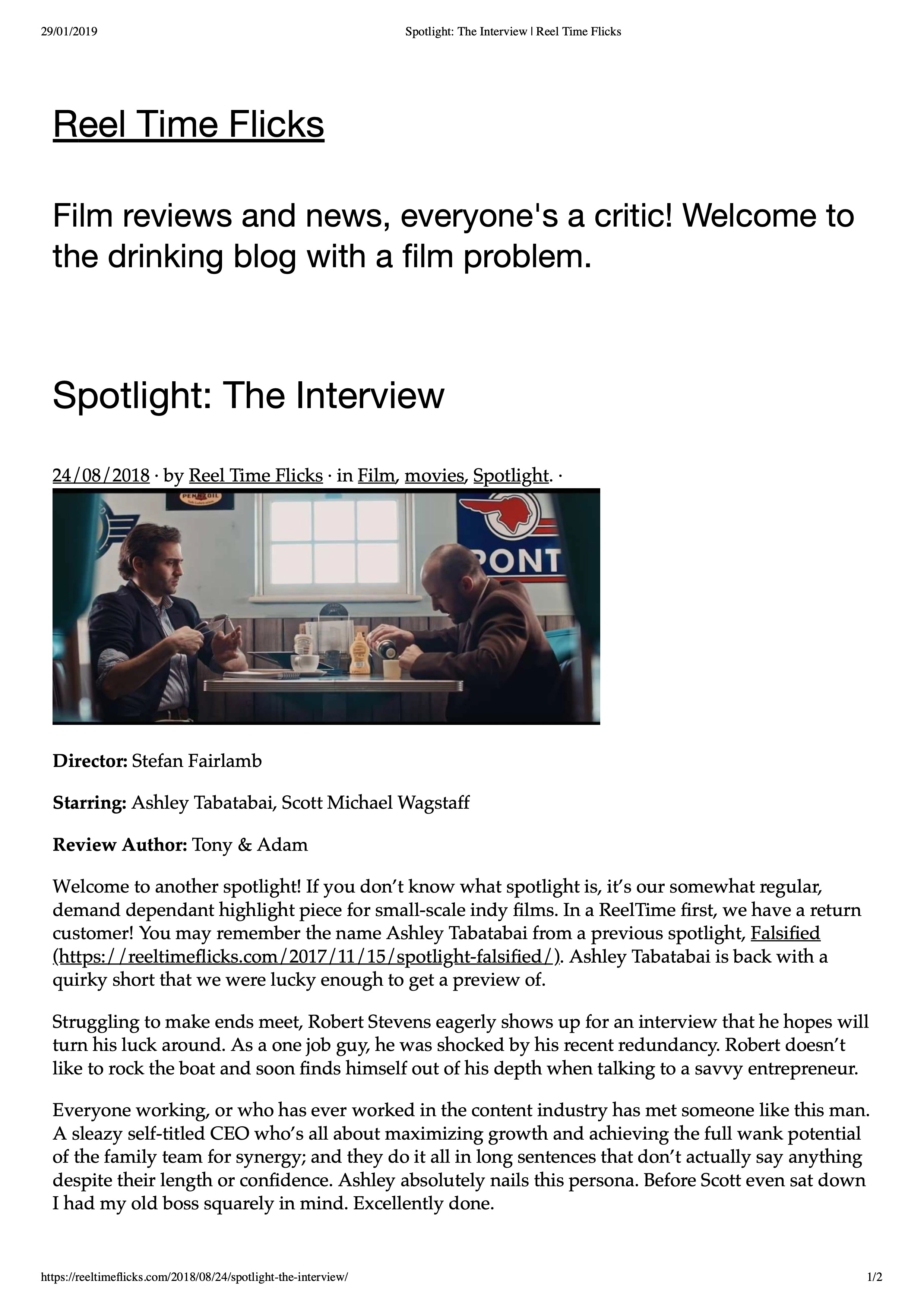 Spotlight- The Interview | Reel Time Flicks-1.jpeg