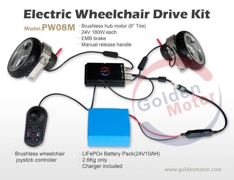 DIY Electric Wheel Drive kit for wheelchair Golden Motor Thailand