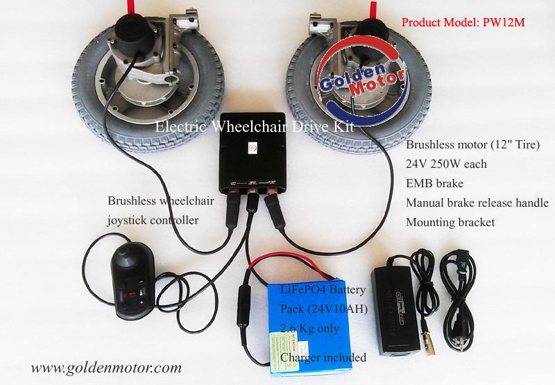 DIY Electric Wheelchair Kit Golden Motor Thailand