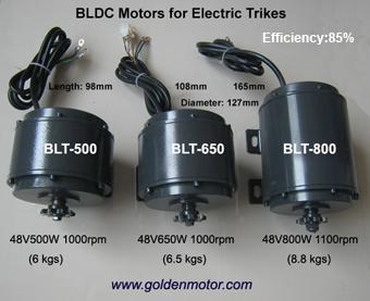 Light BLDC Electric Golden Motors Thailand
