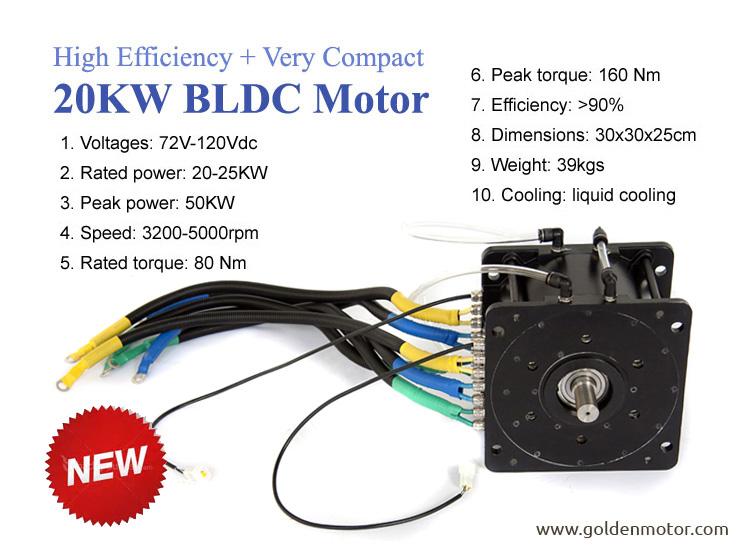 20 KW BLDC Golden Motor Thailand