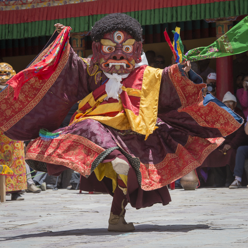 The victory of good over evil! The festival at Hemis Monastery brings hundreds of people from all over India. Image:  ©Oleg Doroshenko⎮Dreamstime.com
