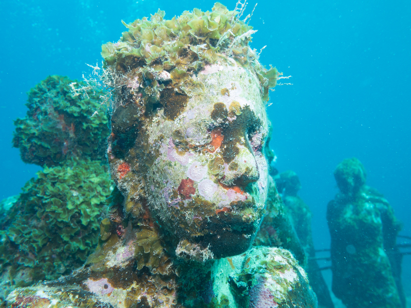 Since 2009, the Underwater Museum of Art has been fascinating divers. Image:  ©Nialldunne24⎮Dreamstime.com