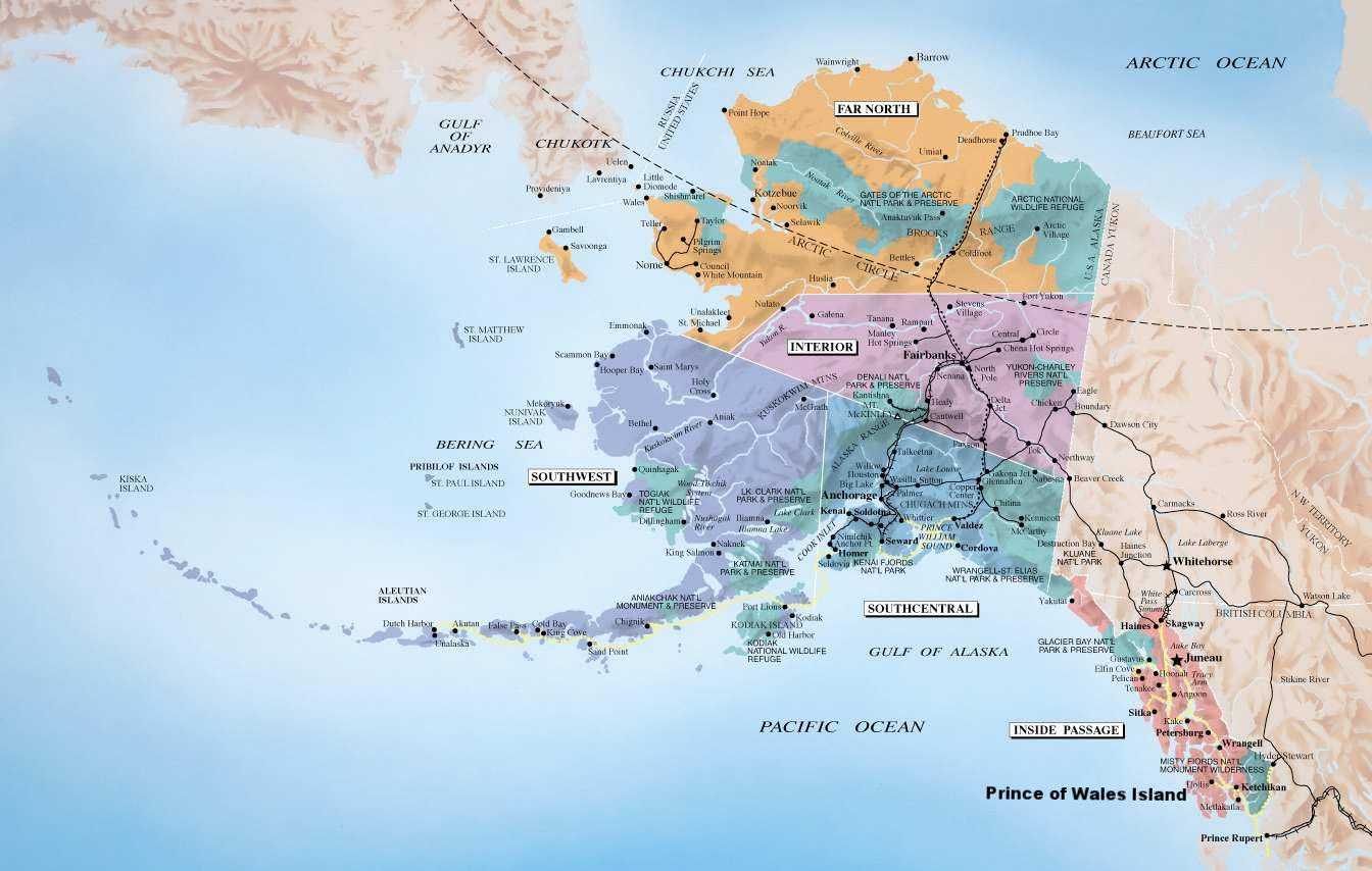 """PRINCE OF WALES ISLAND IS AT THE SOUTHERN MOST TIP OF THE STATE, IT IS PART OF THE INSIDE PASSAGE, THE """"GATEWAY TO ALASKA"""""""