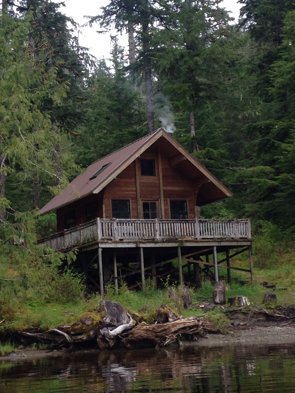 THE  RED BAY LAKE RENTAL CABIN  IS ONE OF MANY FOREST SERVICE RUSTIC CABINS AVAILABLE FOR RENT. IMAGE: COURTESY OF LUKE.