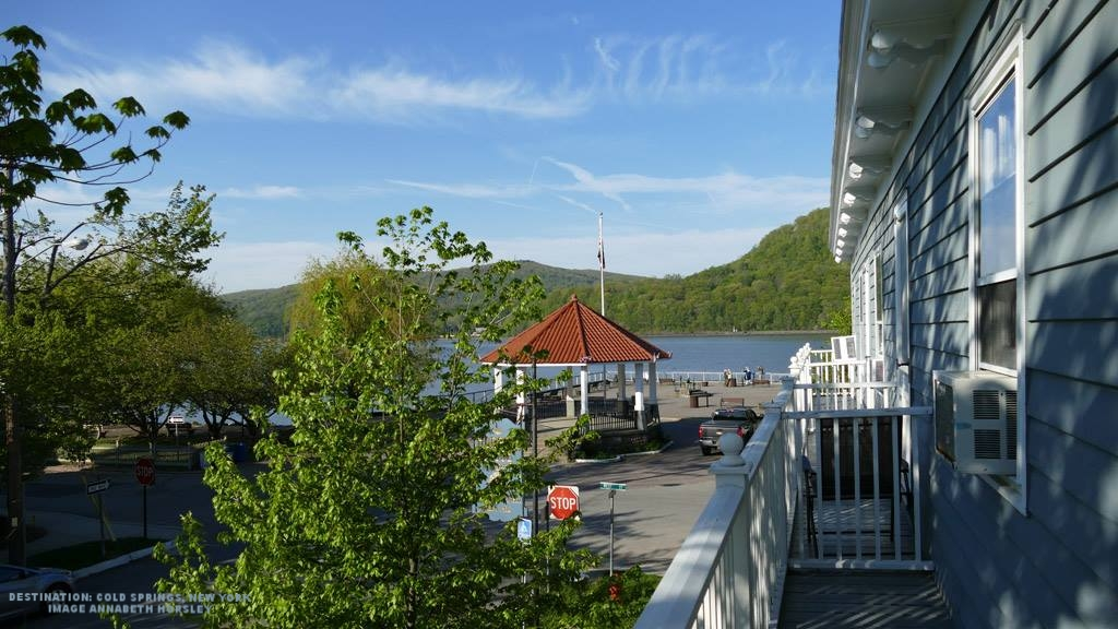 COLD SPRINGS, NEW YORK IS A FAVORITE REST STOP ON OUR SPRING WARBLER TOUR. THE HUDSON HOUSE INN (LEFT) IS LOCATED ON THE RIVER AND NEXT DOOR TO MOO-MOO CAFE, MAKER OF THE THE BEST HOMEMADE ICE-CREAM EVER. IMAGE: THANKS TO ©ANNABETH HORSLEY