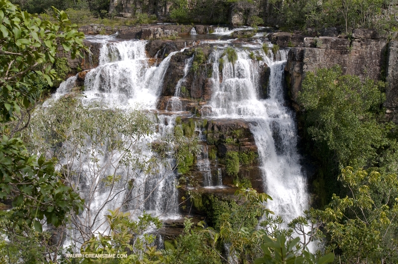 ALMECEGAS WATERFAL, PARQUE NATIONAL DE CHAPADA DOS VEADEIROS, ONE OF ONLY THREE NATIONAL PARKS IN BRAZIL'S CERRADO. THE WATERS ORIGINATING IN THE CERRADO FLOW INTO THE RAIN FOREST FEEDING THE AMAZON. IMAGE:  ©PAURA⎮ DREAMSTIME.COM