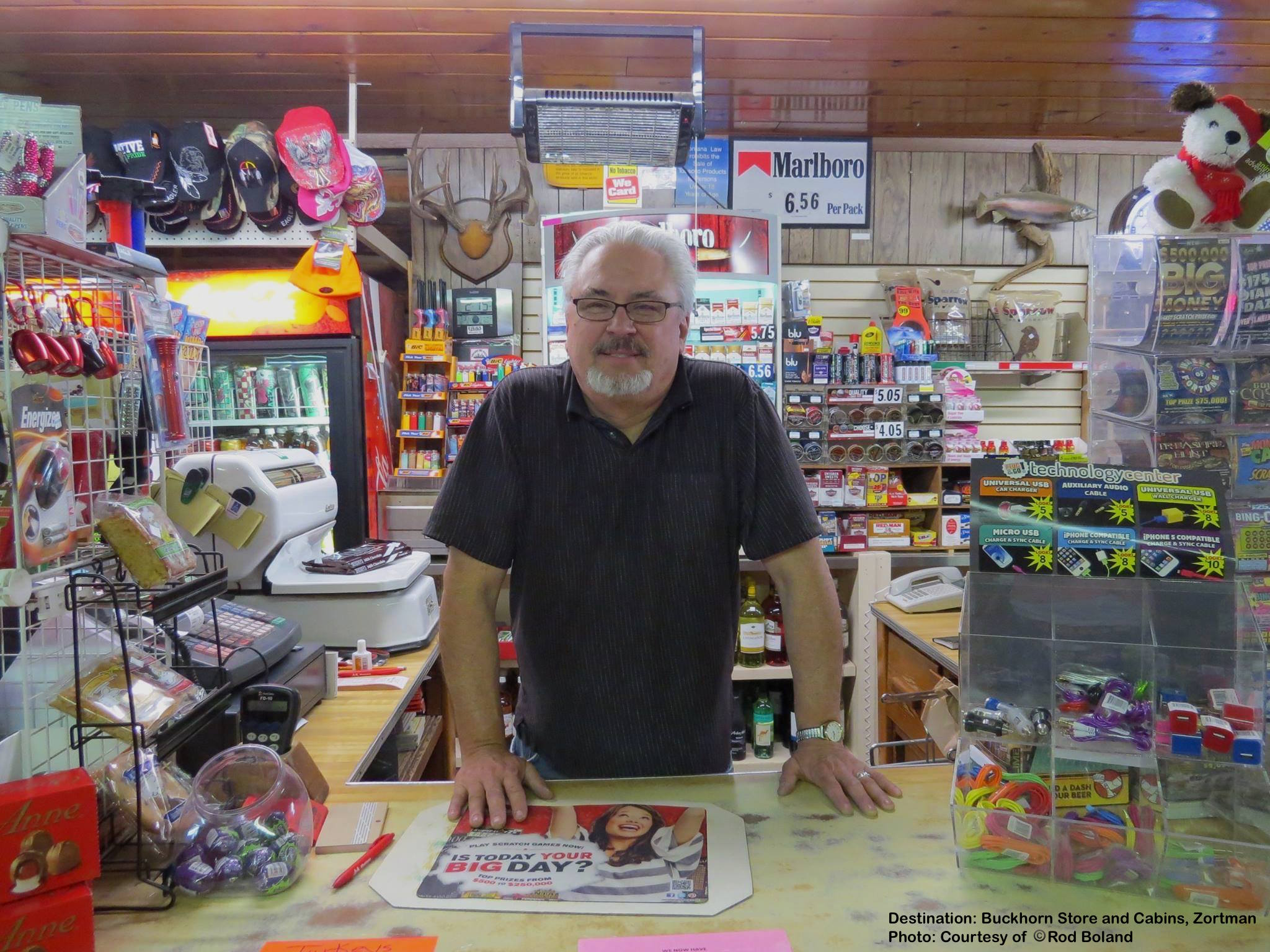 """ZORTMAN'S BUCKHORN STORE & CABINS HAS EVERYTHING FROM FRESH VEGGIES TO FUEL. SAY """"HI"""" TO OWNER ROD, FOR US! IMAGE: COURTESY OF ©ROD BOLAND."""