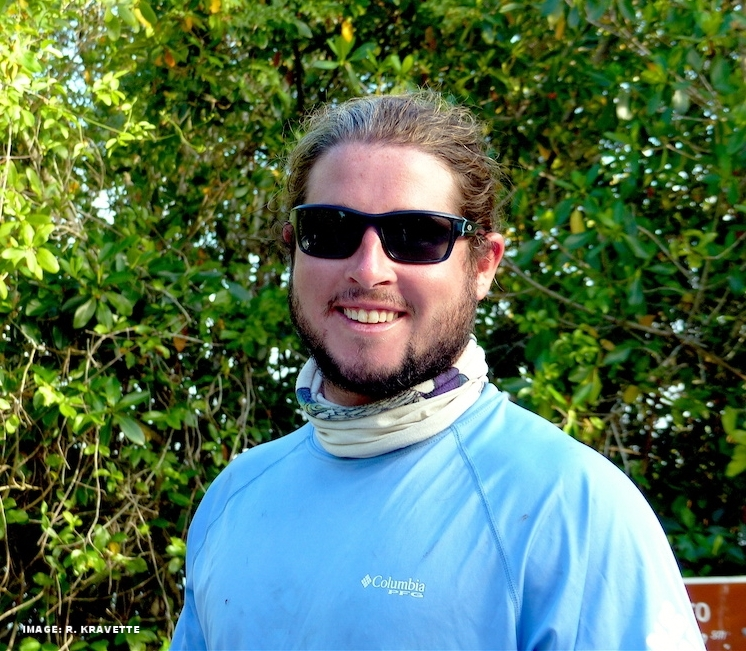 """LOGAN, OUR """"TOUR THE GLADES"""" KAYAK GUIDE IS A BIOLOGIST WITH A SPECIAL LOVE FOR ALL THINGS EVERGLADES. IMAGE: R. KRAVETTE"""