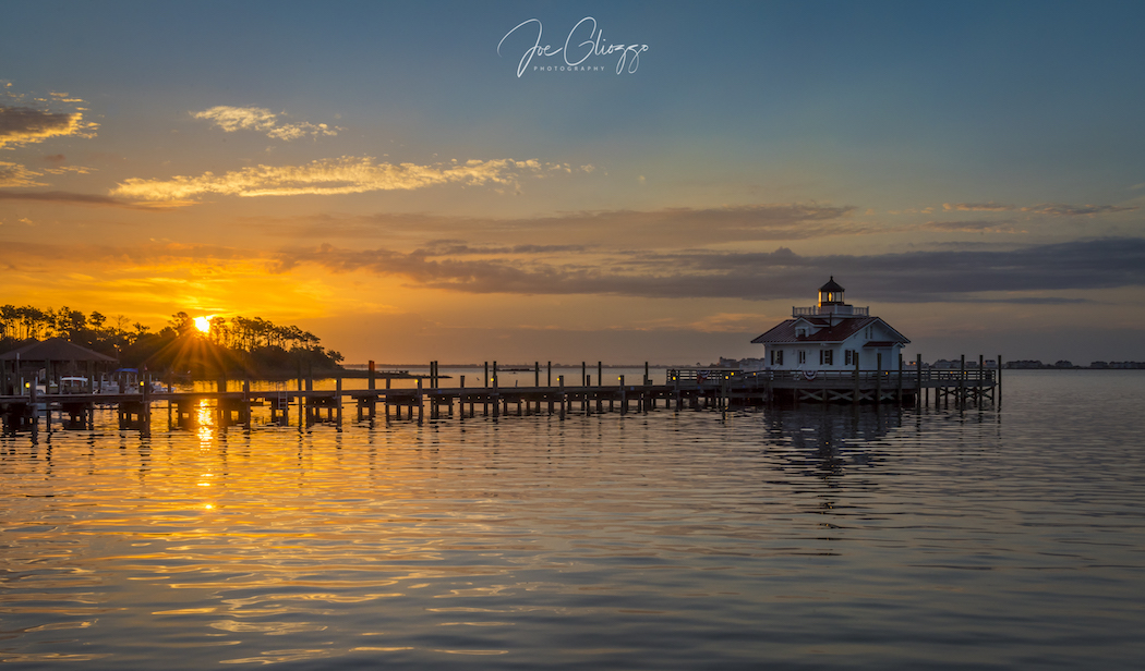 PHOTOGRAPHING THE THE ROANOKE MARSHES LIGHTHOUSE IN MANTEO, NORTH CAROLINA AT SUNRISE WAS A MUST FOR ME. IMAGE: JOE GLIOZZO