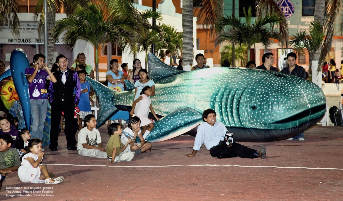 SEEING THE CHILDREN SWIM WITH WHALE SHARKS IS ONE OF JOHN VATER'S FAVORITE THINGS - SO IS SEEING THEM LEARN ABOUT THE PLANET'S AMAZING BUT ENDANGERED BIGGEST FISH. IMAGE: JOHN VATER.