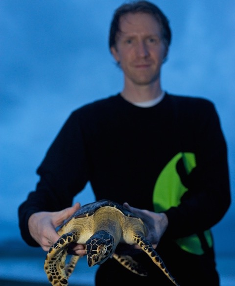 BRAD NAHILL HAS BEEN WORKING TO SAVE SEA TURTLES FOR 15 YEARS. IMAGE: SEE TURTLES