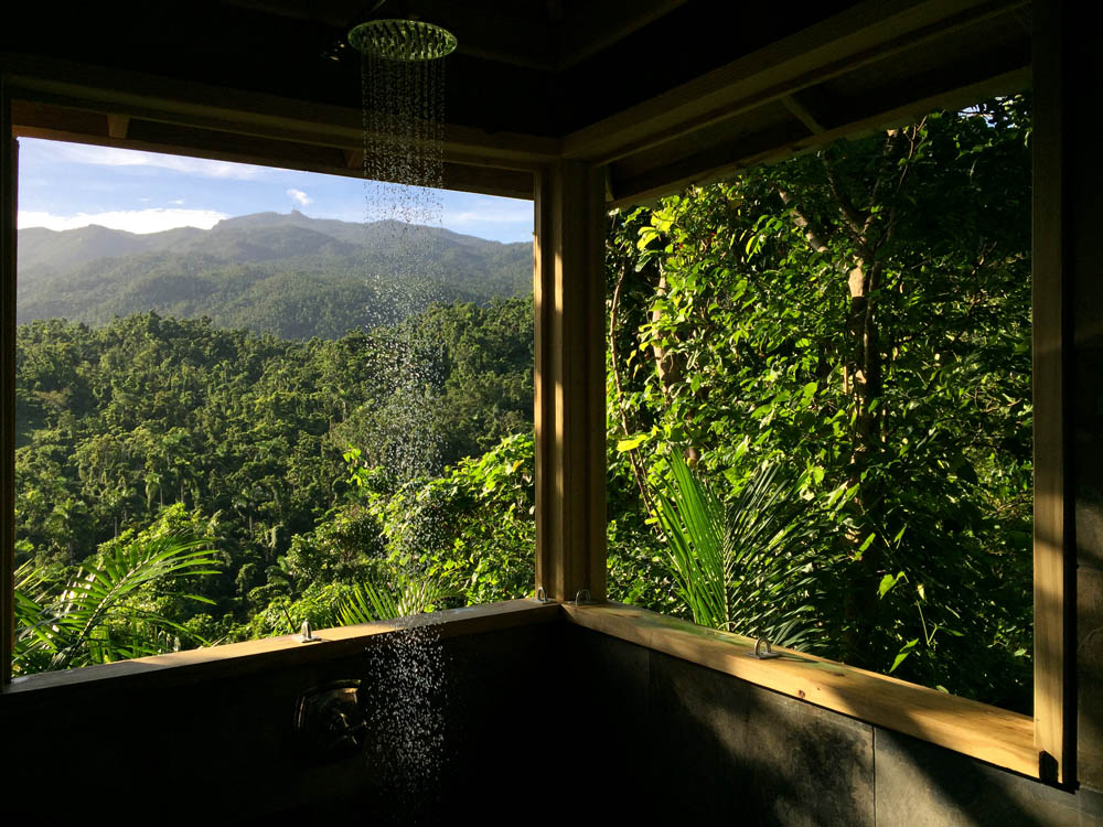 HAVE YOU EVER SHOWERED IN A RAINFOREST? THE VIEW, THE SMELL OF YLANG-YLANG, THE SOFT AIR, YOU WILL NEVER WANT TO LEAVE. IMAGE: ©MARTIN HAGGLAND