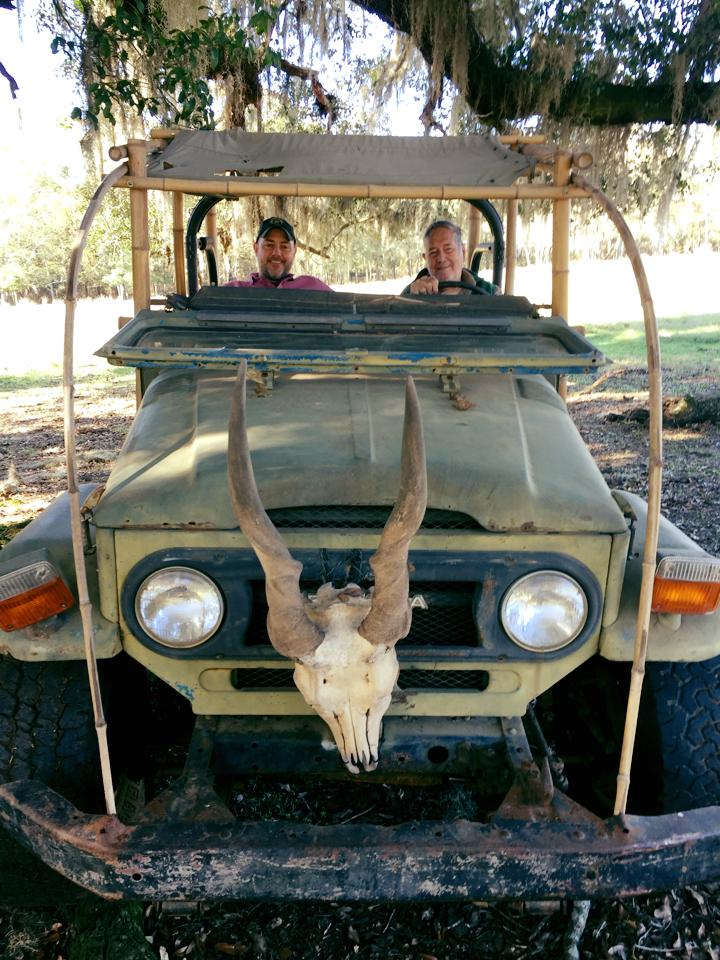 """JIM FOWLER, LOVINGLY NICK-NAMED, 'JUNGLE JIM"""" WITH HIS SON MARK WHO PROUDLY CARRIES ON HIS DAD'S LEGACY AS TEACHER, INSPIRATION AND PROTECTOR OF THE WORLD'S WILDLIFE. IMAGE: THANKS TO MARK FOWLER."""