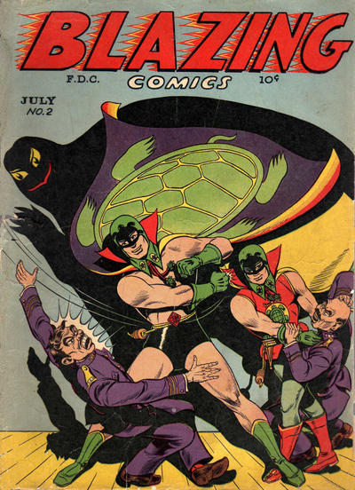 SEA TURTLES ARE SUPER HEROES - AND THEY DON;T EVEN WEAR A CAPE! Image: THE GREEN TURTLE BY CHU HING 1944, BAZING COMICS