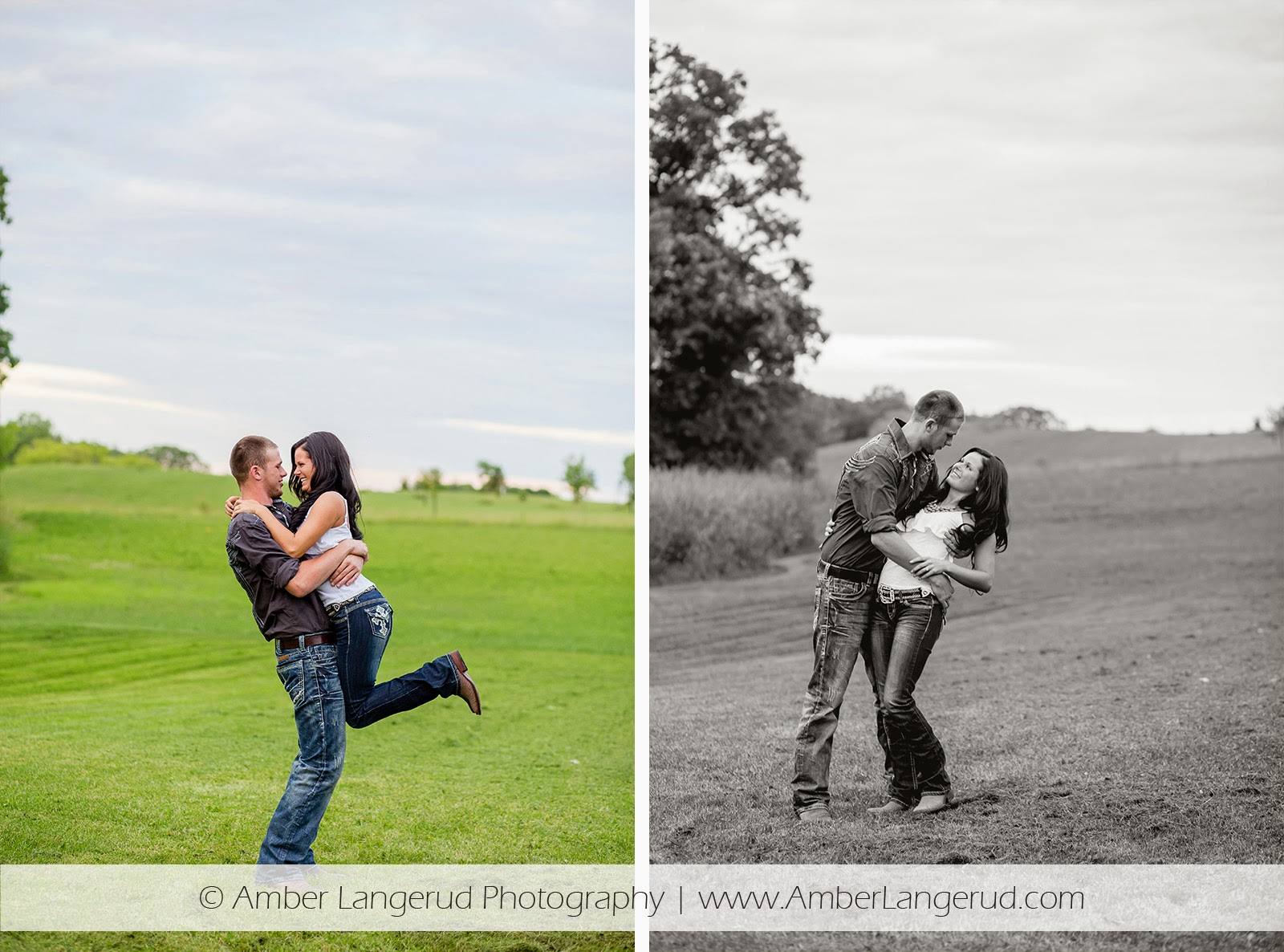 Outdoor Country Engagement Pictures | Detroit Lakes Area Photographer | Engagement Photos lifting & dipping her