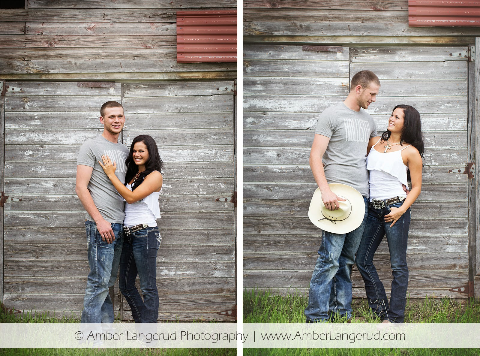 Outdoor Country Engagement Pictures | Detroit Lakes Area Photographer | Engagement Photos with Old Barn