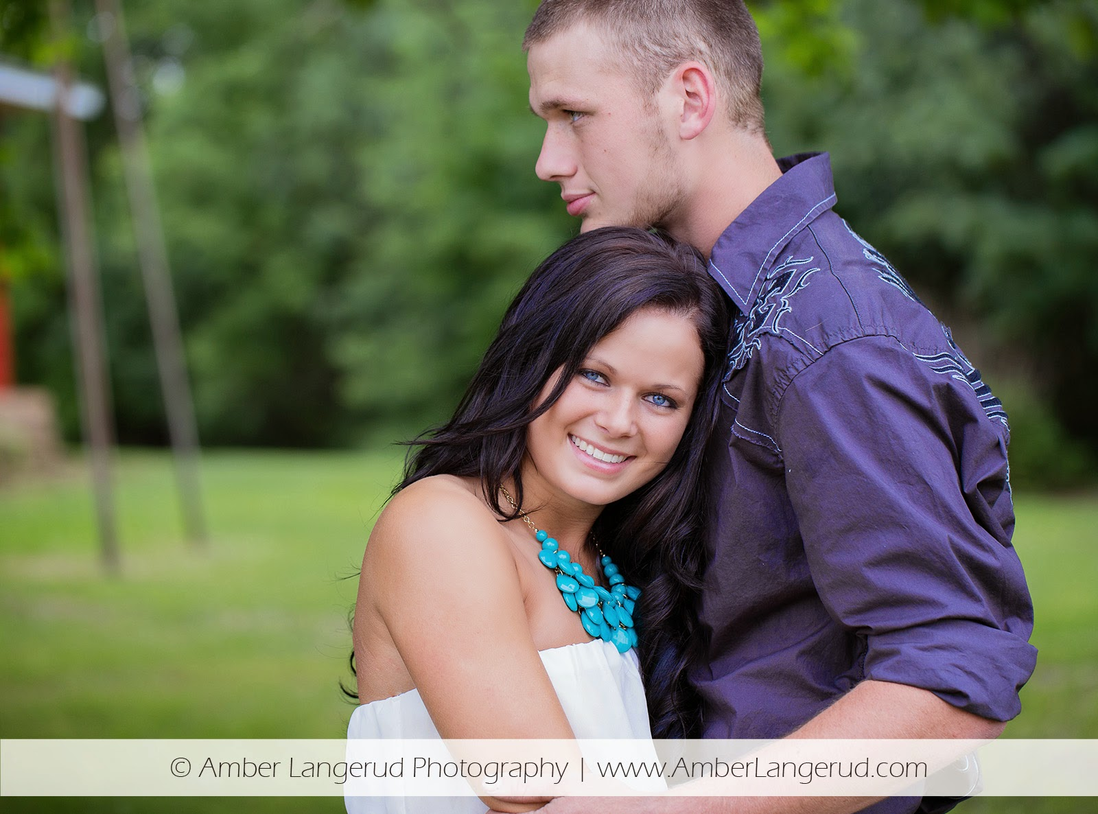 Outdoor Country Engagement Pictures | Detroit Lakes Area Photographer | Engagement Photos Faces Close