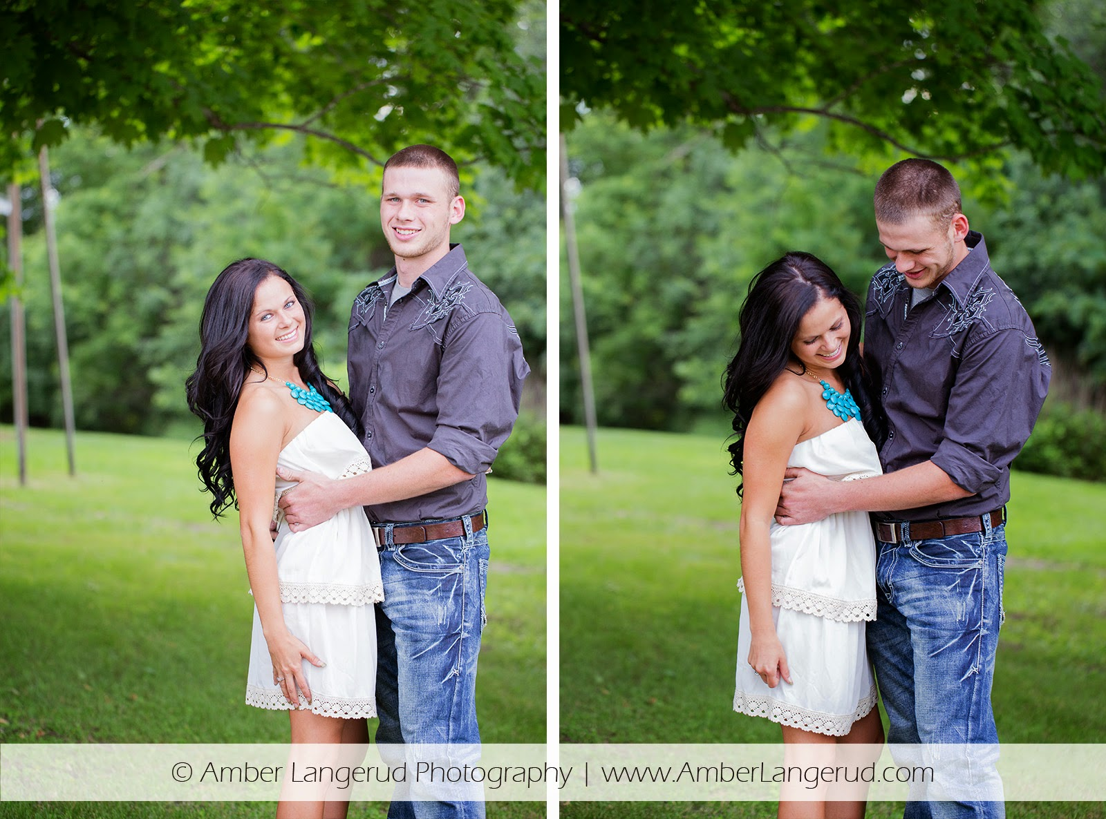 Outdoor Country Engagement Pictures | Detroit Lakes Area Photographer | Engagement Photos with Semi Dressy Outfit