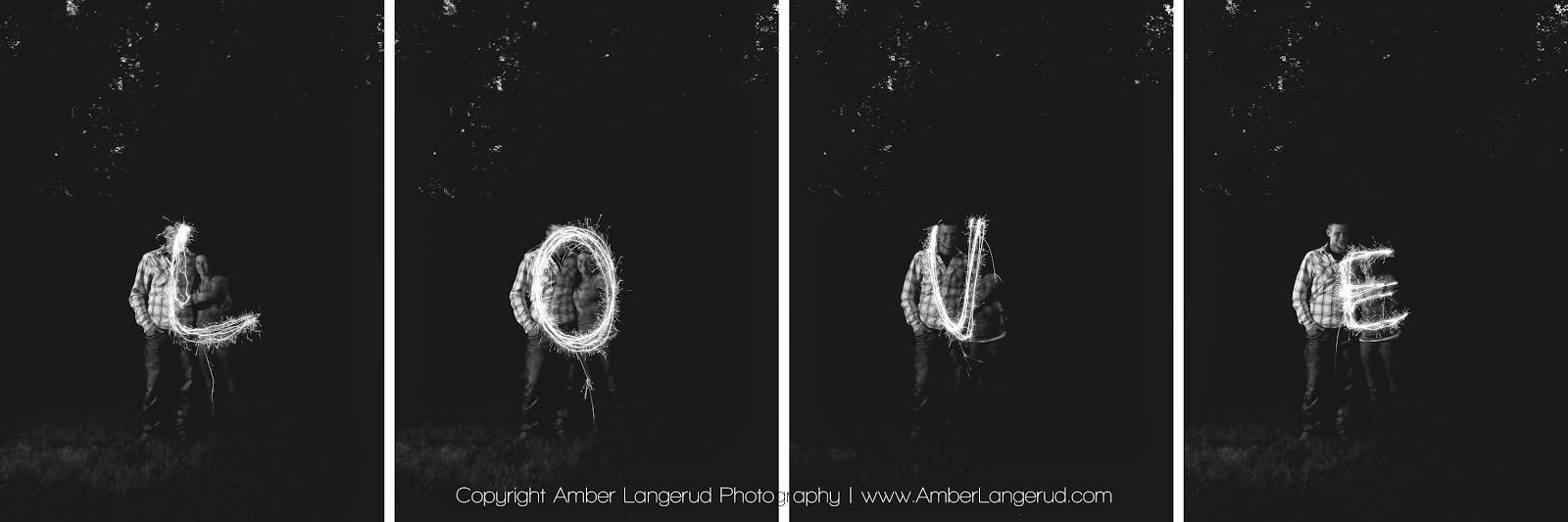 Sparkler engagement pictures   Detroit Lakes Area Photographer   Amber Langerud Photography