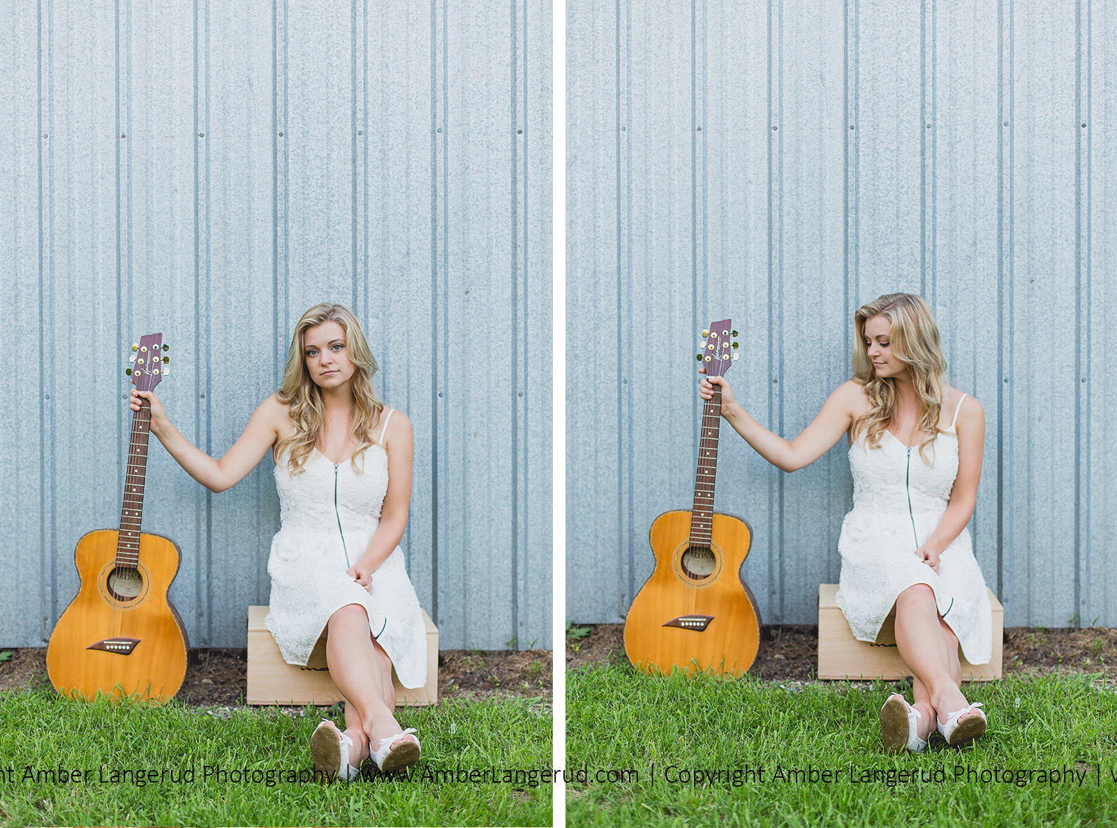 Hawley, MN Country Styled Outdoor Photoshoot Guitar