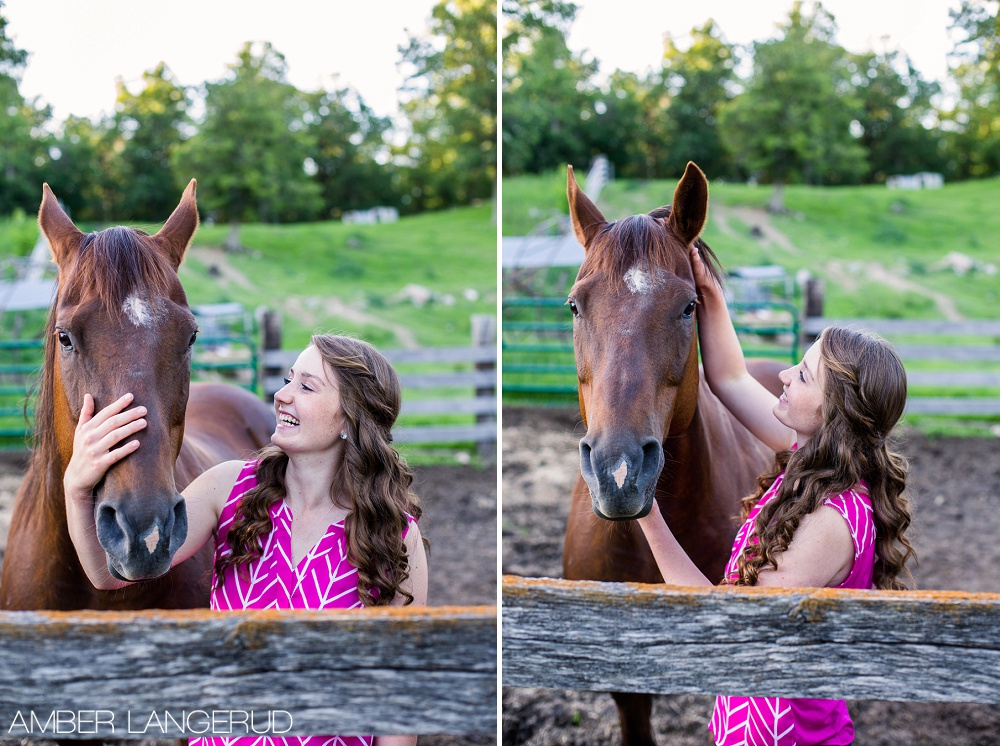 High School Senior Pictures Country Styled with Horse Frazee, MN