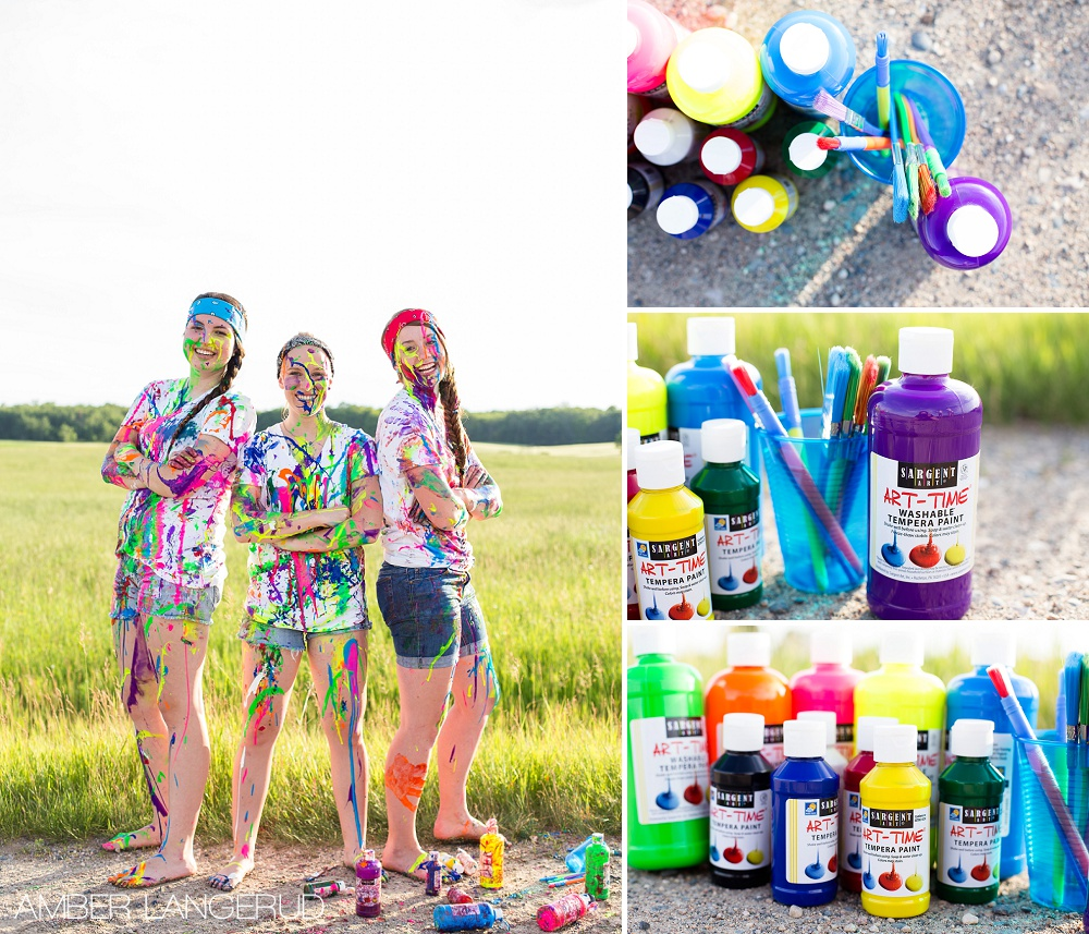 BFF Paint Splash Photoshoot | Detroit Lakes Area Photographer