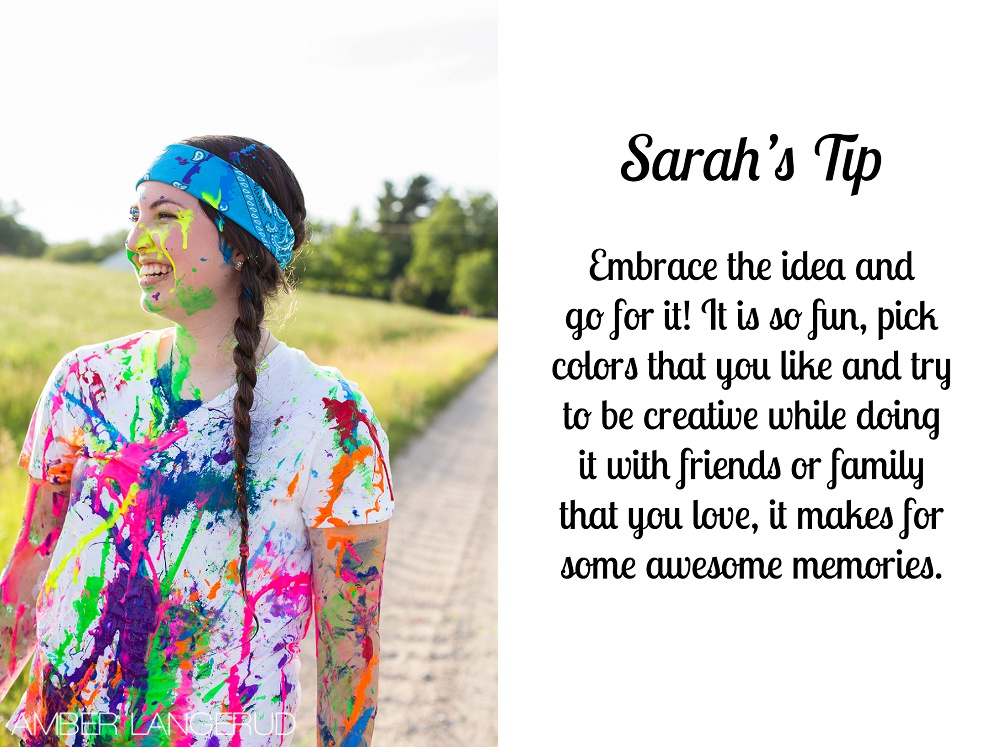 Paint Splash Sesison Tips