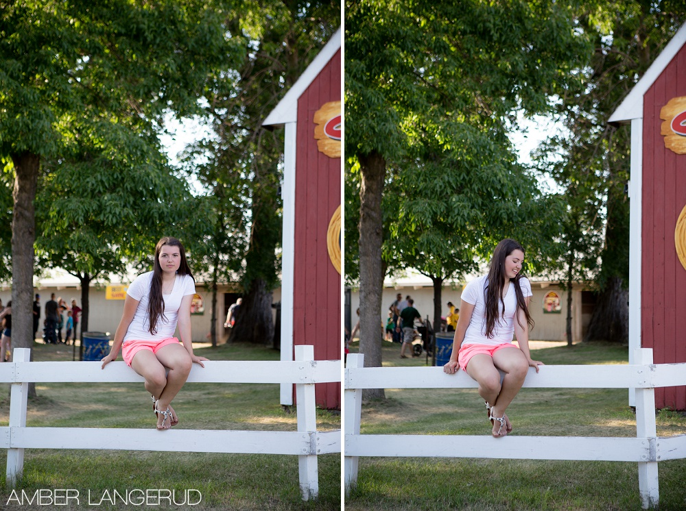 Senior Pictures at the Becker County Fair