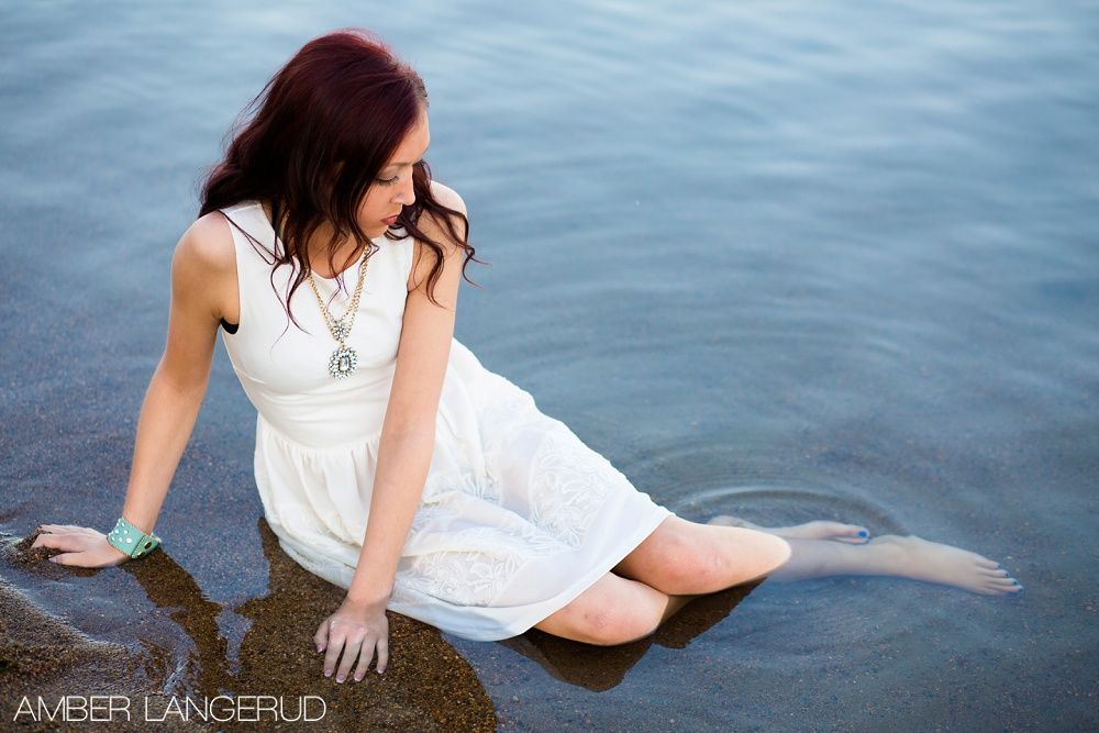 Summer and Beach styled high school senior pictures
