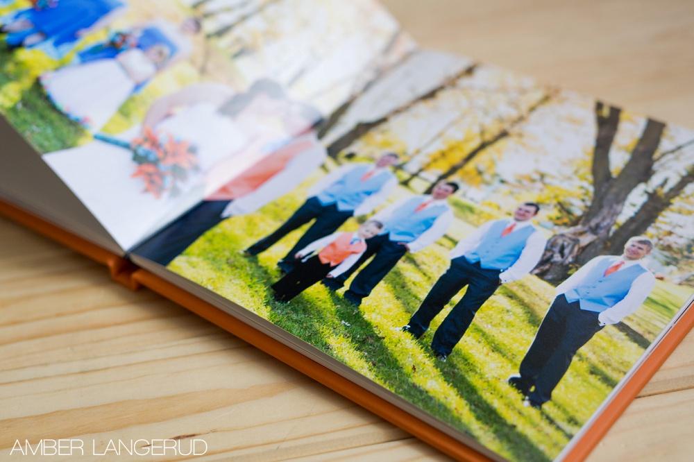 Wedding Photo Album by Amber Langerud Photography