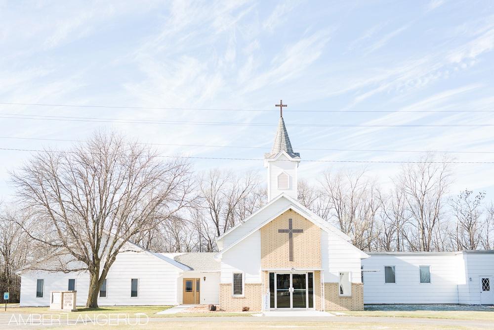 Rural North Dakota Country Church Wedding Galchutt, ND Church