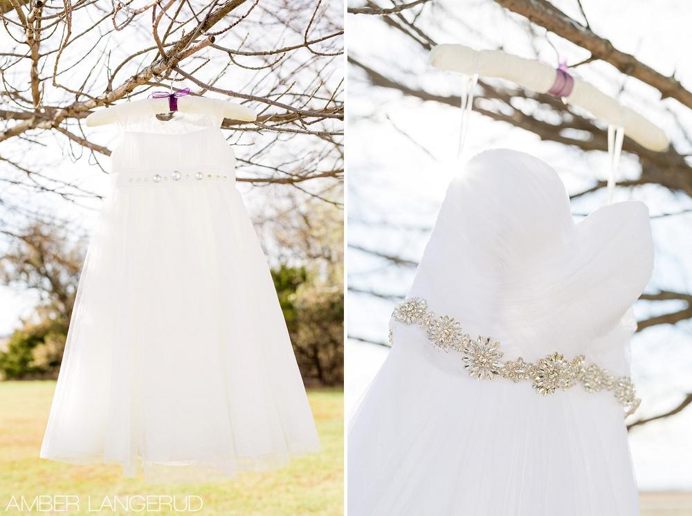 Rural North Dakota Country Church Wedding | Wedding Dress and Flower Girl Dress