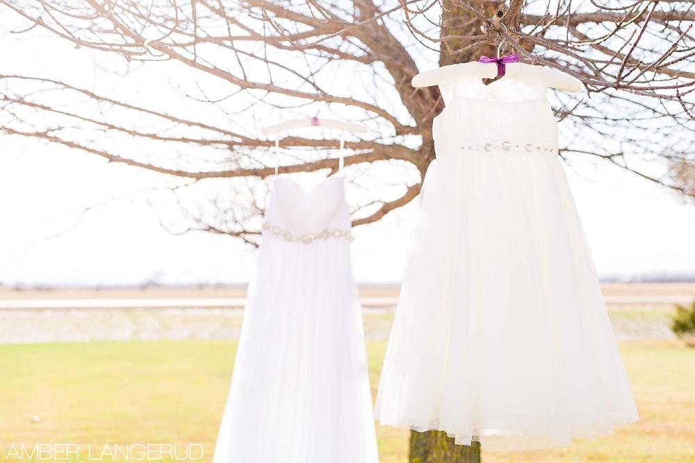 Rural North Dakota Country Church Wedding | Wedding Dress and Bridesmaid Dress