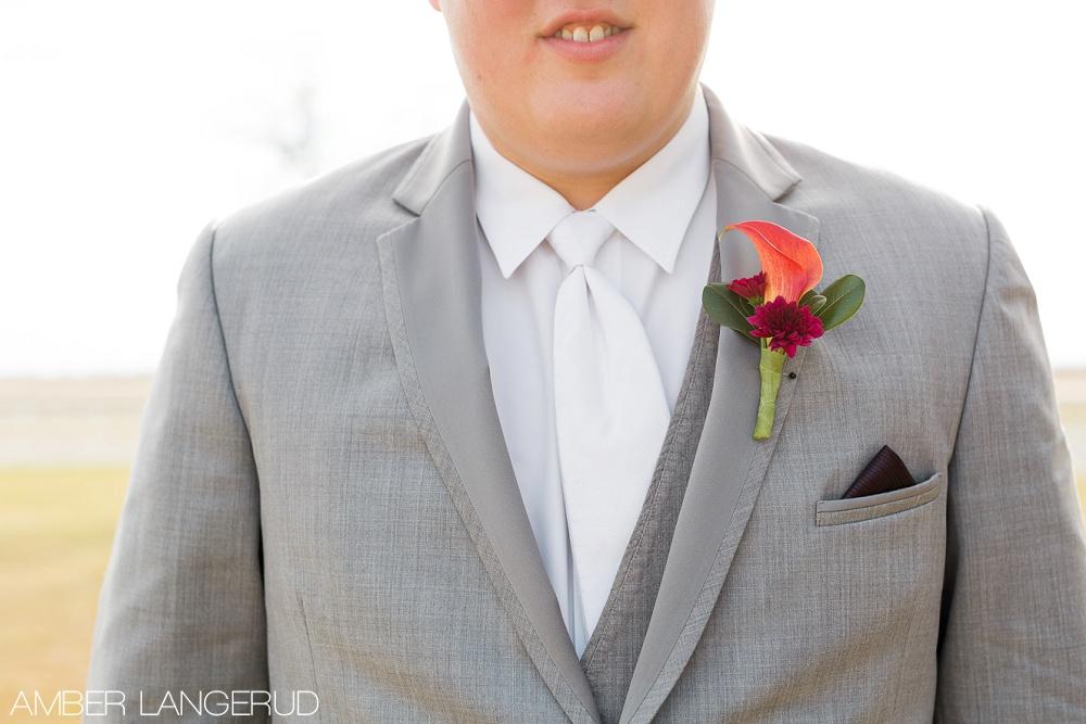 Rural North Dakota Country Church Wedding | Groom Portrait