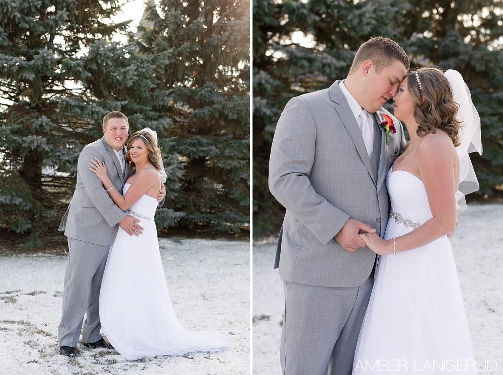 Rural North Dakota Country Church Wedding | Bride and Groom Portraits