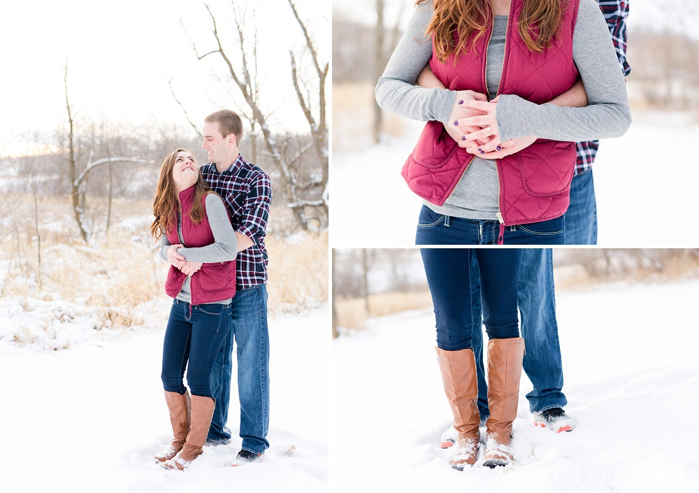 Detroit Lakes, MN Outdoor Winter Engagement Session | Amber Langerud Photography