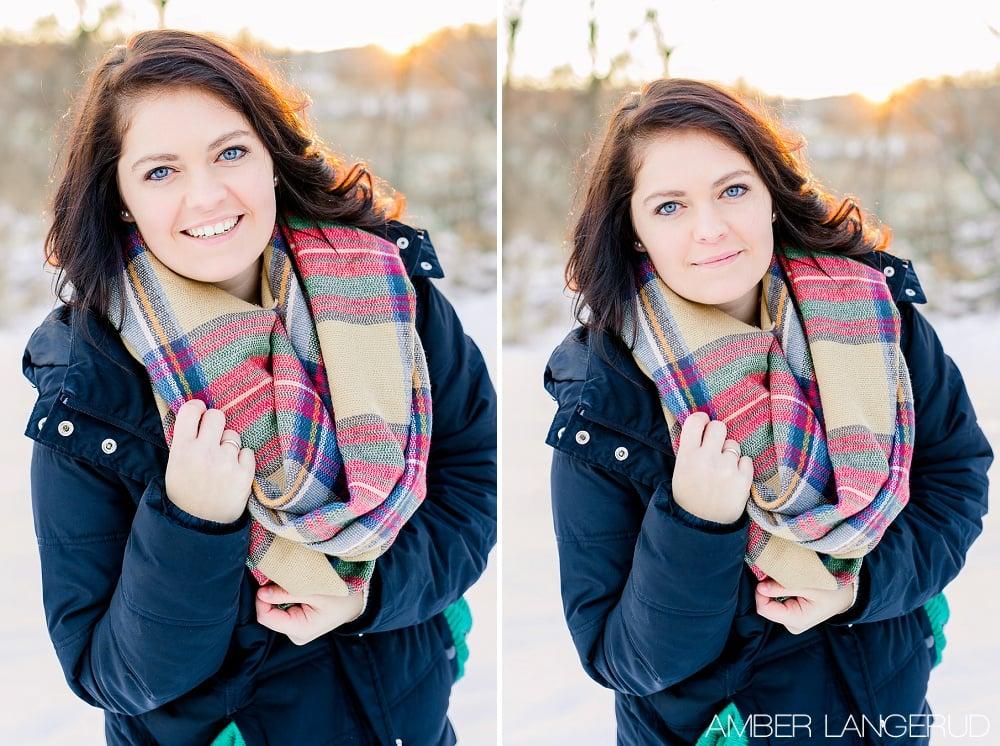 Audubon, MN Outdoor Winter Portraits | Winter Coat & Blanket Scarf